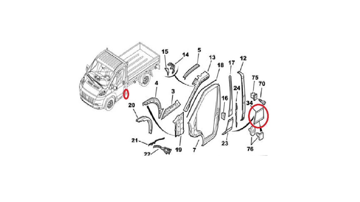 Fiat Ducato Peugeot Boxer Citroen Relay Left Side Plastic