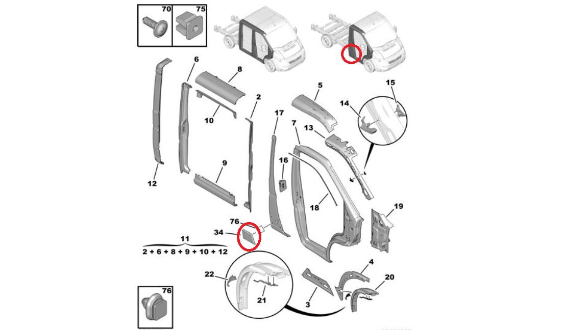 Fiat Ducato Peugeot Boxer Citroen Relay Right Side Plastic