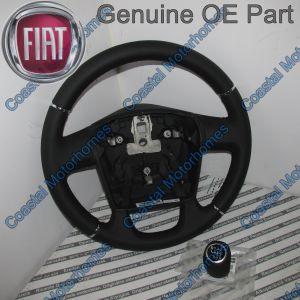 Fits Fiat Ducato Peugeot Boxer Citroen Relay Leather Steering Wheel Gear Knob 06 On
