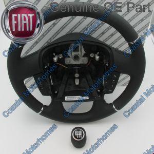 Fits Fiat Ducato Peugeot Boxer Citroen Relay Leather Steering Wheel Knob Controls 14>