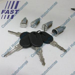 Fits Fiat Ducato Peugeot Boxer Citroen Relay 244 Four Locks Barrells Keys Set 02-06