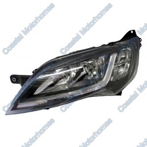 Fits Fiat Ducato Peugeot Boxer Citroen Relay Left Headlight Black Without DRL 14-On