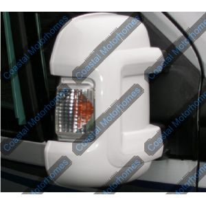 Fits Fiat Ducato Peugeot Boxer Citroen Relay White Short Arm Mirror Protectors 4732