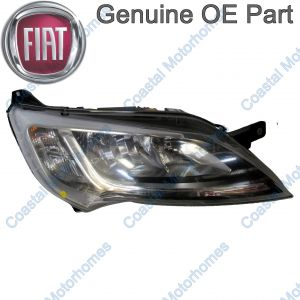 Fits Fiat Ducato Peugeot Boxer Citroen Relay Right Headlight Silver Without DRL OE