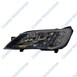 Fits Fiat Ducato Peugeot Boxer Citroen Relay Left Headlight Silver With DRL 14on