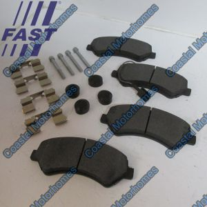 Fits Fiat Ducato Peugeot Boxer Citroen Relay Q17 Q20 Front Pads Set (HD) 77364015