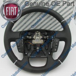 Fits Fiat Ducato Peugeot Boxer Citroen Relay Leather Steering Wheel + Controls 11-14