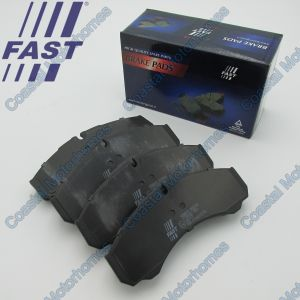 Fits Iveco Daily II-III Front Rear Brake Pads Without Wear Sensors (1989-2007)