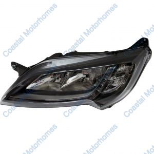 Fits Fiat Ducato Peugeot Boxer Citroen Relay Left Headlight Black With DRL 14on