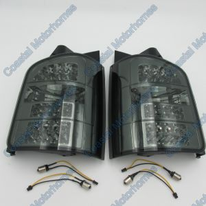 Fits VW Volkswagen Transporter/Caravelle T5 LED Smoked Rear Lights Pair 2003-2010