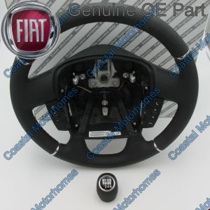Fits Fiat Ducato Peugeot Boxer Citroen Relay Leather Steering Wheel Knob Controls 14>