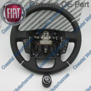 Fits Fiat Ducato Peugeot Boxer Citroen Relay Leather Steering Wheel Knob Control11-14