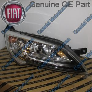 Fits Fiat Ducato Peugeot Boxer Citroen Relay Right Headlight Silver With DRL 14on