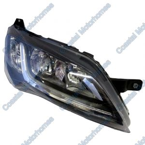 Fits Fiat Ducato Peugeot Boxer Citroen Relay Right Headlight Black Without DRL 14-On