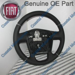 Fits Fiat Ducato Peugeot Boxer Citroen Relay Leather Steering Wheel 2006-Onwards OE
