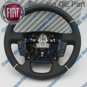 Fits Fiat Ducato Peugeot Boxer Citroen Relay Leather Steering Wheel + Controls 2014On